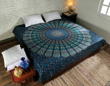 Mandala Multi Color Print Tapestry Indian Wall Hanging Decor QueenSize Bedspread