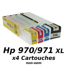 Hp970 / Hp971 x 4 Cartouches Rechargeables XL + Puces ARC non-oem★★★