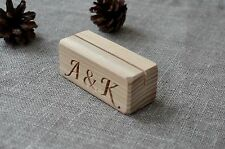 10 Personalized Wood Place Card Holders for Weddings, Rustic Table Number Holder