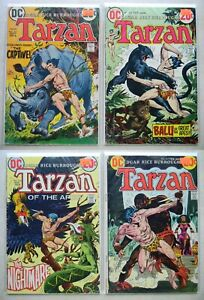 Tarzan #212, 213, 214, 217 $15.00 LOT of 4 (1972, DC) 2.0 GD-4.0 VG KUBERT ART
