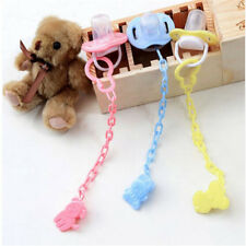 Baby Pacifier Clip Boy Girl Teething Dummy Soother Nipple Strap Chain Holder GR