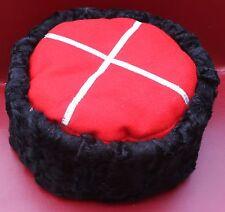 Papakha Russian Red Army Black Sheepskin Lamb Astrakhan Fur Hat Cossack Papaha