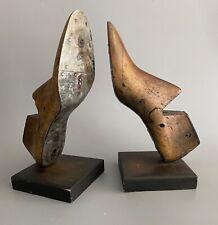 Antique Wooden Cobbler Shoe Form Mold Bookends