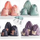 3Pcs Laundry Storage Home Drawstring Bag Pouch Toy Clean Cloth Organizer S/M/L