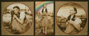 Wizard of Oz Dorothy Toto Rainbow 3 Squares Pillow Panel 16 x 42 Inch OOP Fabric