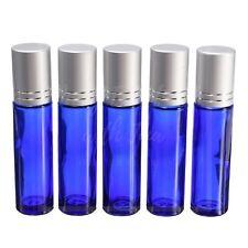 10ml Cobalt Blue Glass Roller Bottles - 5 Pack