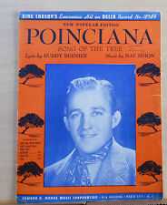 Poinciana Song of The Tree - 1943 sheet music - Bing Crosby photo cover