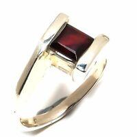 Mozambique Garnet Gemstone Handmade Jewelry 925 Sterling Silver Ring Size 8