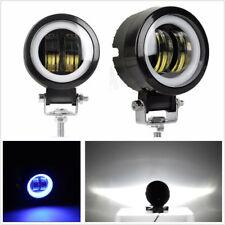 "1 Pcs 3"" 6000K 20W Car SUV Boat Round CREE LED Angel Eyes Lamp White Blue 12/24V"