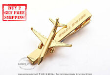 A Brand New Boeing 737NG 18k Gold Plated Next Generation Necktie Tie Clasp Clips
