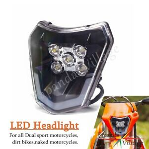 LED Headlight Assemblies For EXC XCW TPI EXC-F Six Days 300 350 450 690 Enduro R