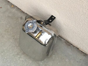 Fiat Bertone X1/9 19 Stainless Steel Expansion Tank Rare Polished radiator