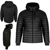 Mens Brave Soul Jacket Hooded Zip Quilted Bubble Puffer Padded Winter Warm Coat