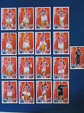 Topps Match Attax Cards - Lot 0f 17 - Stoke City - 2010/11 - Green Back