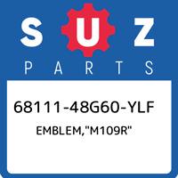 "68111-48G60-YLF Suzuki Emblem,""m109r"" 6811148G60YLF, New Genuine OEM P"