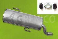 Endschalldämpfer PEUGEOT 206 1.1i 1.4i 1.6i Schrägheck 1998-2013 + Montagesatz