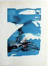 ZAO WOU KI PEINTRE CHINOIS GRAVURE IMPRIMERIE DU COMPAGNONNAGE à PARIS 1965 z2
