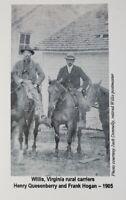 Floyd VA 1905 Vintage Photo Copy Card Willis Post Office Quesenberry Hogan