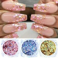 Professional Chrome Effect Nail Powder Pigment Rose Gold Silver Nail Art 6 Nice