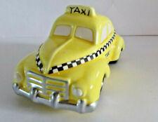 Department 56 Snow Village Yellow Taxi Handpainted Ceramic
