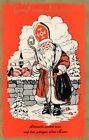 Nikolaus-Karte Gruß vom Nikolaus Allerorts wartet man auf den gütigen...  (D38)