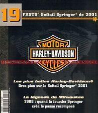 HARLEY DAVIDSON FXSTS 1450 Softail Springer 2001 ; Fourche HD 1988 MOTO
