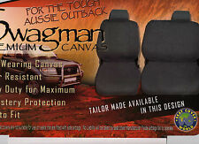 CANVAS  TOYOTA  LANDCRUISER CAR SEAT COVER 80 SERIES STANDARD &  DX CHARCOAL