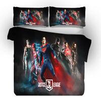 Superman 3D Design Bedding Set 3PC Of Duvet Cover Pillowcase Single Double King