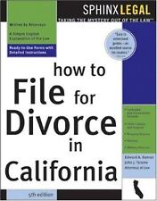 How to File for Divorce in California, 5E