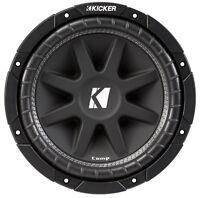KICKER 43C124 12 Inch 300 Watt 4-Ohm COMP Series Car Audio SVC Sub Subwoofer C12
