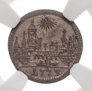 GERMAN STATES, Frankfurt. Silver Kreuzer, 1773-BN, NGC AU55