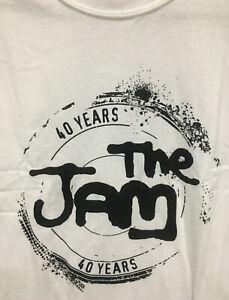 The Jam '40 Years' - Official Mens T-Shirt / White Logo (Paul Weller)