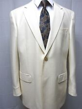 Men's Ivory Summer,Wool Blend, Two Button, Sport, 42L, NWT