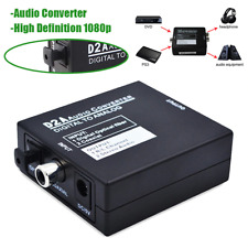 D2A Audio Converter RCA L/R 3.5mm Optical Coaxial Toslink Digital To Analog