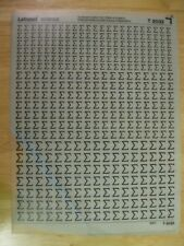 1 x Letraset Science Sheet T 2032  Very Rare