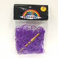 300 Purple Refill Bands for DIY Loom Bracelet Kit + 24 S Clips + Tool