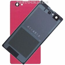 Pink Back Cover Glass Battery Door for Sony Xperia Z1 Mini Compact D5503 M51W