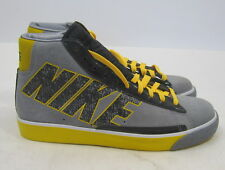 new Nike Blazer High Cool Grey Black White Yellow 316664-003 Sneaker Size 8