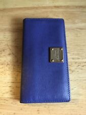 Lauren by Ralph Lauren Wallet Pink Purple Gold Detail Womens Leather Clutch Polo