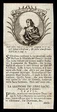 santino incisione 1700 S.GIUSTINO IL FILOSOFO M.