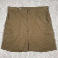 Mens Orvis Brown Cargo Shorts Size 42 Cotton Fishing Cargo
