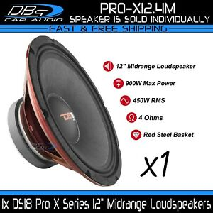 "DS18 PRO-X12.4M 12"" Midrange Speaker 900 Watt 4 Ohm Pro Car Midbass Loudspeaker"