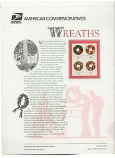 #3249-52 32c Christmas Wreaths Stamps USPS #556 Commemorative Stamp Panel