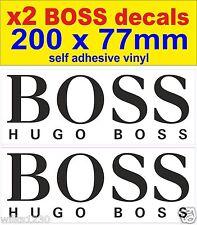 x2 BOSS rally race car classic decals van mini bus truck sticker bicke
