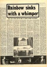 Rainbow Theatre Sinks With A Wimper MM5 Article 1975