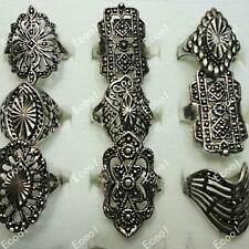 50pcs Vintage Alloy Mixed Style Rings Wholesale Jewelry Lots Women