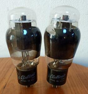 GE 6L6G coke bottle matched pair tubes,Röhren tested 80%