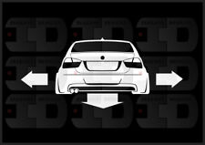 Down N Out Sticker Decal E90 BMW 328i N52 S65 Slammed Stance Low Wide Pre LCI