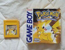 Pokemon Yellow Special Pikachu Edition Game - Nintendo Game Boy - With Box