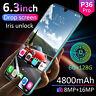 6,3 Zoll P36 PRO Android Smartphone Dual-SIM-Gesicht 6G + 128G Handy